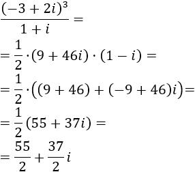 Calculadora online para sumar, restar, multiplicar y dividir números complejos en forma binómica. Incluye una introducción con las fórmulas de las operaciones y 10 problemas resueltos de productos, cocientes y potencias de números complejos. Matemáticas para bachillerato y universidad. TIC