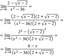 limite del cociente de una raiz cuadrada y un polinomio de grado 2