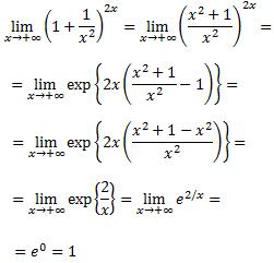 limite con la indeterminacion 1 elevado a infinito