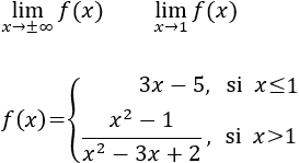 limites de una funcion definida por partes