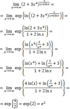 límite con exponenciales