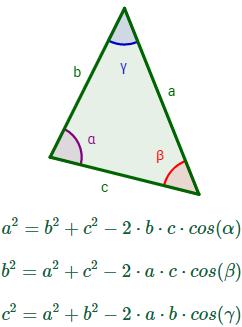calcular lados, ángulos y áreas de triángulos. Problemas resueltos y explicados paso a paso. Trigonometría. Bachiller.