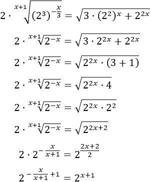 resolución de ecuaciones exponenciales, incógnita en los exponentes de potencias, cambio de base