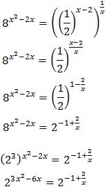 resolució d'equacions exponencials