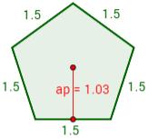 calcular perímetro, área, apotema, demostrar la fórmula del área, etc. Polígonos. Secundaria.