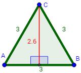 áreas de triángulos: fórmula y justificación, Fórmula de Herón, ejemplos y Problemas Resueltos