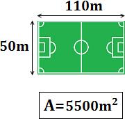 área de un campo de fútbol