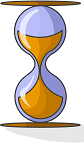representación de un reloj de arena