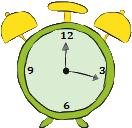 representación de un reloj