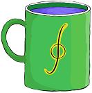 representación de una taza de agua