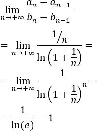 Enunciado y ejemplos de aplicación del criterio de Stolz del cociente. Criterio de convergencia de sucesiones. Bachillerato, Universidad, Análisis de una variable real.