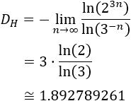 Explicamos el método de String Rewriting para generar las sucesivas iteraciones de fractales. Generamos, a modo de ejemplo, la alfombra de Sierpinski (Sierpinski carpet) y calculamos su dimensión de Hausdorff. Fractal. Fractales.