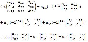 Reglas para calcular el determinante de una matriz según su dimensión, enunciamos las propiedades de la función determinante, definimos el rango y los menores de una matriz y enunciamos el Teorema de Rouché-Frobenius. Álgebra matricial. Matrices.