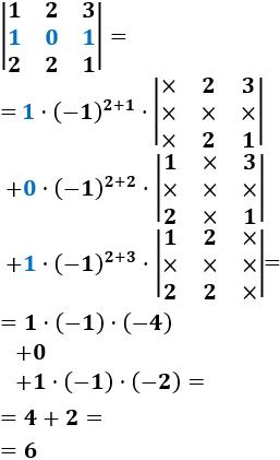 Reglas para calcular el determinante de matrices de dimensión 1, 2 y 3 y la regla de Laplace por filas y columnas. Con ejemplos y ejercicios resueltos. Matemáticas para bachillerato y universidad. Álgebra matricial.