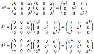 ejercicios resueltos de calcular la fórmula general de las       potencias de una matriz