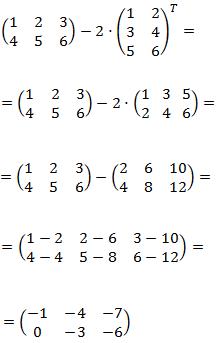 sumas y matrices traspuestas
